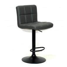 Кресло барное ARNO (Арно) черная база, серый кожзам