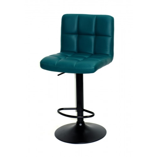 Купить Кресло барное ARNO (Арно) черная база, зеленый кожзам