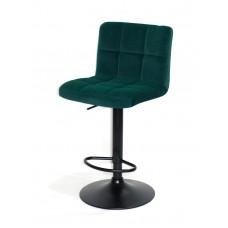Кресло барное ARNO (Арно) черная база, зеленый бархат