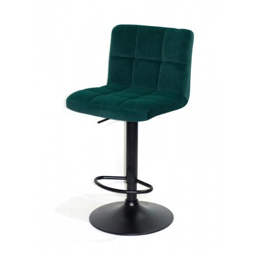 Купить Кресло барное ARNO (Арно) черная база, зеленый бархат