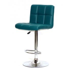 Кресло барное ARNO (Арно) хромированная база, зеленый кожзам
