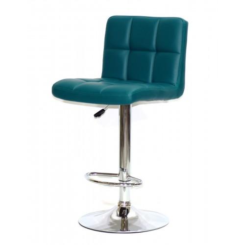 Купить Кресло барное ARNO (Арно) хромированная база, зеленый кожзам