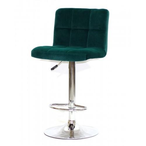 Купить Кресло барное ARNO (Арно) хромированная база, зеленый бархат