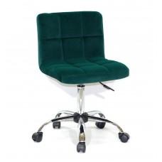 Кресло офисное ARNO (Арно) хромированная база, зеленый бархат