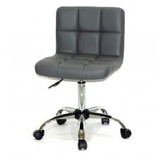 Кресло офисное ARNO (Арно) хромированная база, серый кожзам