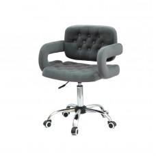 Кресло GOR (Гор) Office на хромированной крестовине, бархат серый (B-1004)