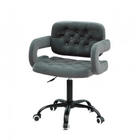 Кресло GOR (Гор) Office на черной крестовине, бархат серый (B-1004)