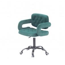 Кресло GOR (Гор) Office на черной крестовине, бархат зеленый (B-1003)