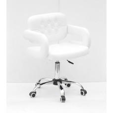 Кресло GOR (Гор) Office на хромированной крестовине, экокожа белая