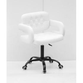 Кресло GOR (Гор) Office на черной крестовине, экокожа белая