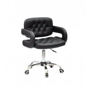 Кресло GOR (Гор) Office на хромированной крестовине, экокожа черная