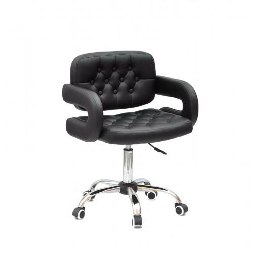 Купить Кресло GOR (Гор) Office на хромированной крестовине, экокожа черная