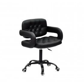 Кресло GOR (Гор) Office на черной крестовине, экокожа черная