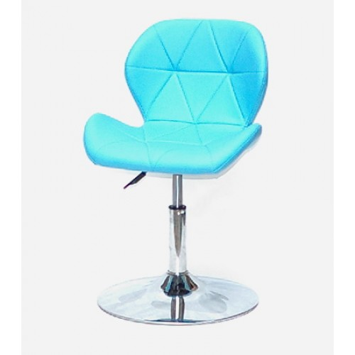 Купить Кресло барное Invar (Инвар) хромированная база, кожзам голубой (52)