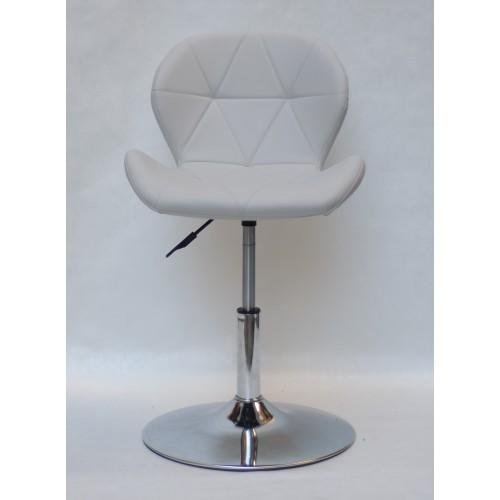 Купить Кресло барное Invar (Инвар) хромированная база, кожзам серый (10)