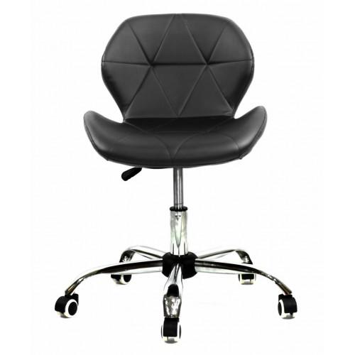 Купить Кресло офисное Invar (Инвар) хромированная база, экокожа, черный