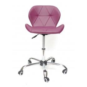 Кресло офисное Invar (Инвар) хромированная база, экокожа, пурпурный (62)