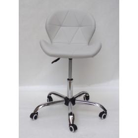 Кресло офисное Invar (Инвар) хромированная база, экокожа, серый (10)