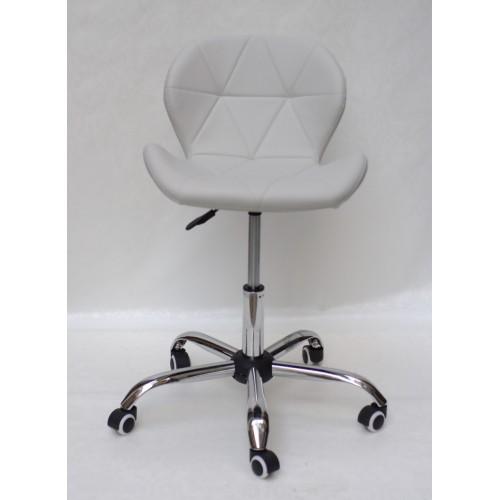 Купить Кресло офисное Invar (Инвар) хромированная база, экокожа, серый (10)