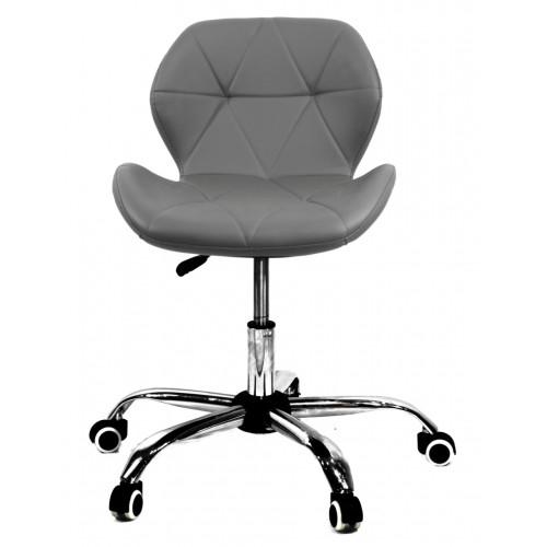 Купить Кресло офисное Invar (Инвар) хромированная база, экокожа, серый (21)