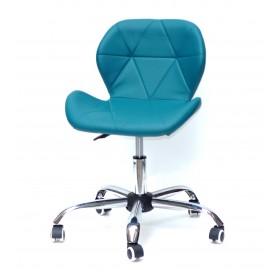 Кресло офисное Invar (Инвар) хромированная база, экокожа, зеленый (02)
