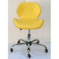 Кресло офисное Invar (Инвар) хромированная база, экокожа, желтый (12)