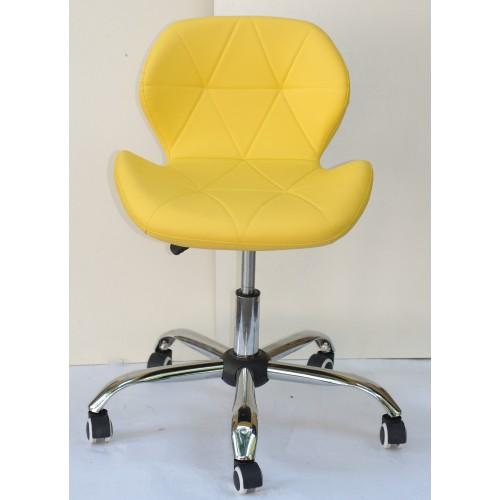 Купить Кресло офисное Invar (Инвар) хромированная база, экокожа, желтый (12)