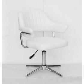 Кресло JEFF (ДЖЕФ) MODERN BASE на хромированной крестовине, экокожа белая