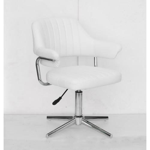 Купить Кресло JEFF (ДЖЕФ) MODERN BASE на хромированной крестовине, экокожа белая