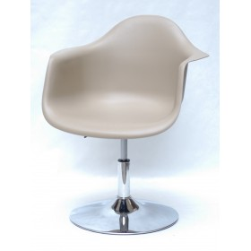 Кресло Leon (Леон) поворотное на блине бежевое (06), пластик