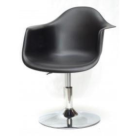 Кресло Leon (Леон) поворотное на блине черное (04), пластик