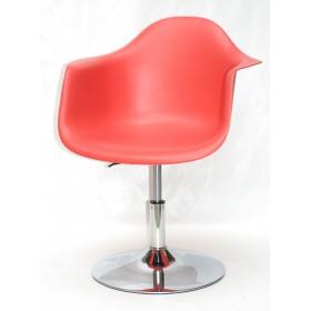 Кресло Leon (Леон) поворотное на блине красное (05), пластик
