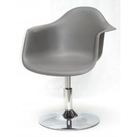Кресло Leon (Леон) поворотное на блине серое (21), пластик