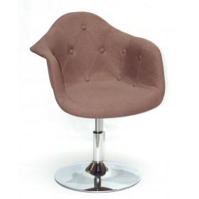 Кресло Leon (Леон) поворотное на блине коричневое (К-10), вискоза