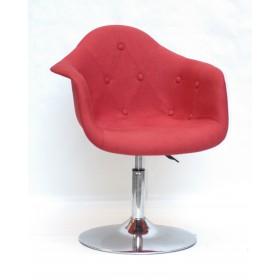 Кресло Leon (Леон) поворотное на блине красное (К-9), вискоза