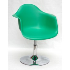 Кресло Leon (Леон) поворотное на блине зеленое (47), пластик