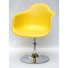 Кресло Leon (Леон) поворотное на блине желтое (12), пластик