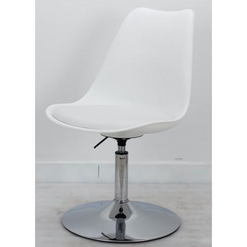 Купить Кресло барное Milan (Милан) хромированная база,  кожзам белый (07)