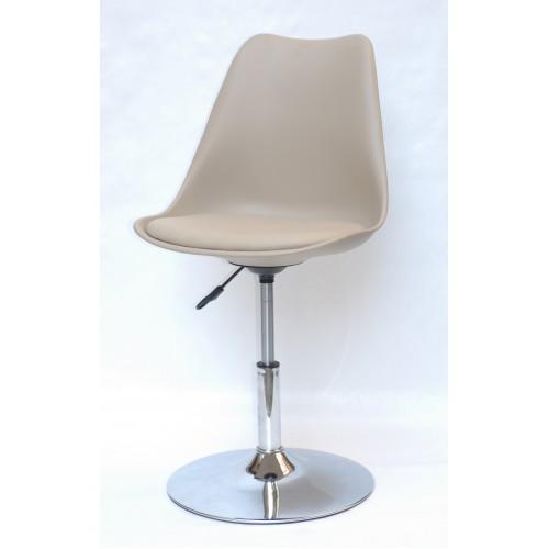 Купить Кресло барное Milan (Милан) хромированная база, кожзам бежевый (06)
