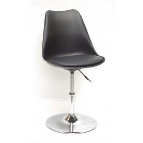 Кресло барное Milan (Милан) хромированная база, кожзам черный (04)