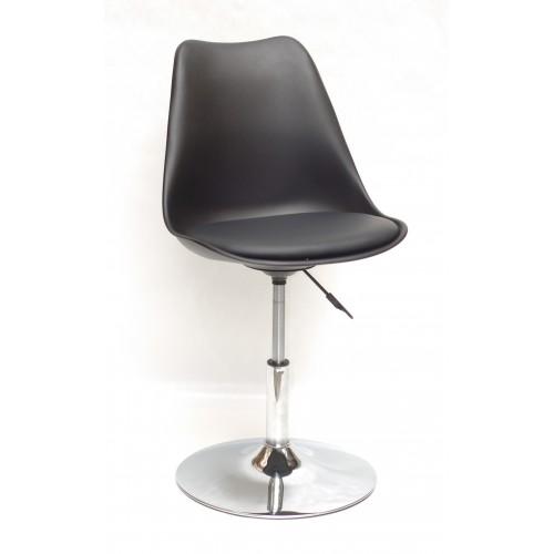 Купить Кресло барное Milan (Милан) хромированная база, кожзам черный (04)