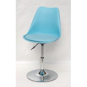 Кресло барное Milan (Милан) хромированная база, кожзам голубой (52)