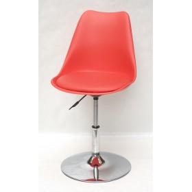 Кресло барное Milan (Милан) хромированная база, кожзам красный (05)