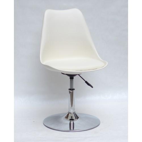 Купить Кресло барное Milan (Милан) хромированная база, кожзам молочный (56)