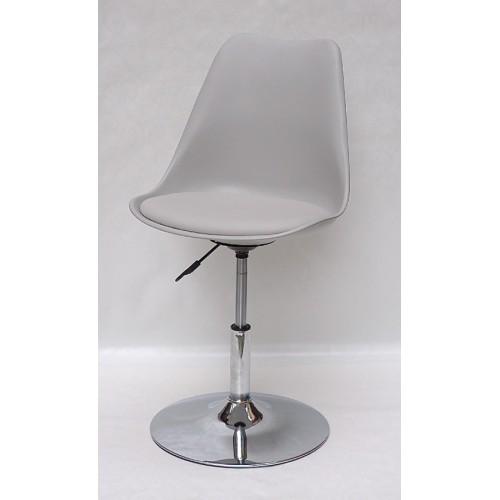 Купить Кресло барное Milan (Милан) хромированная база, кожзам серый (10)