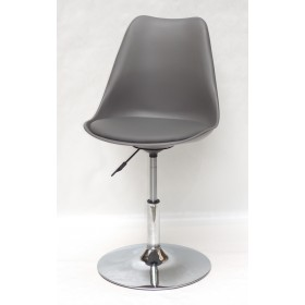 Кресло барное Milan (Милан) хромированная база, кожзам серый (21)