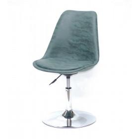 Кресло барное Milan (Милан) хромированная база, зеленый MR (202)