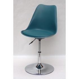 Кресло барное Milan (Милан) хромированная база, кожзам зеленый (02)
