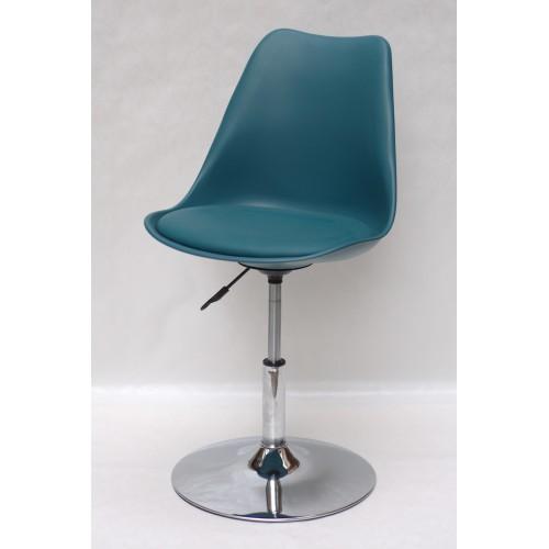 Купить Кресло барное Milan (Милан) хромированная база, кожзам зеленый (02)