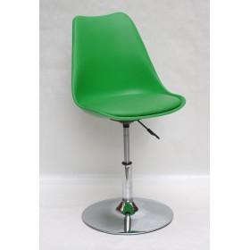 Кресло барное Milan (Милан) хромированная база, кожзам зеленый (44)